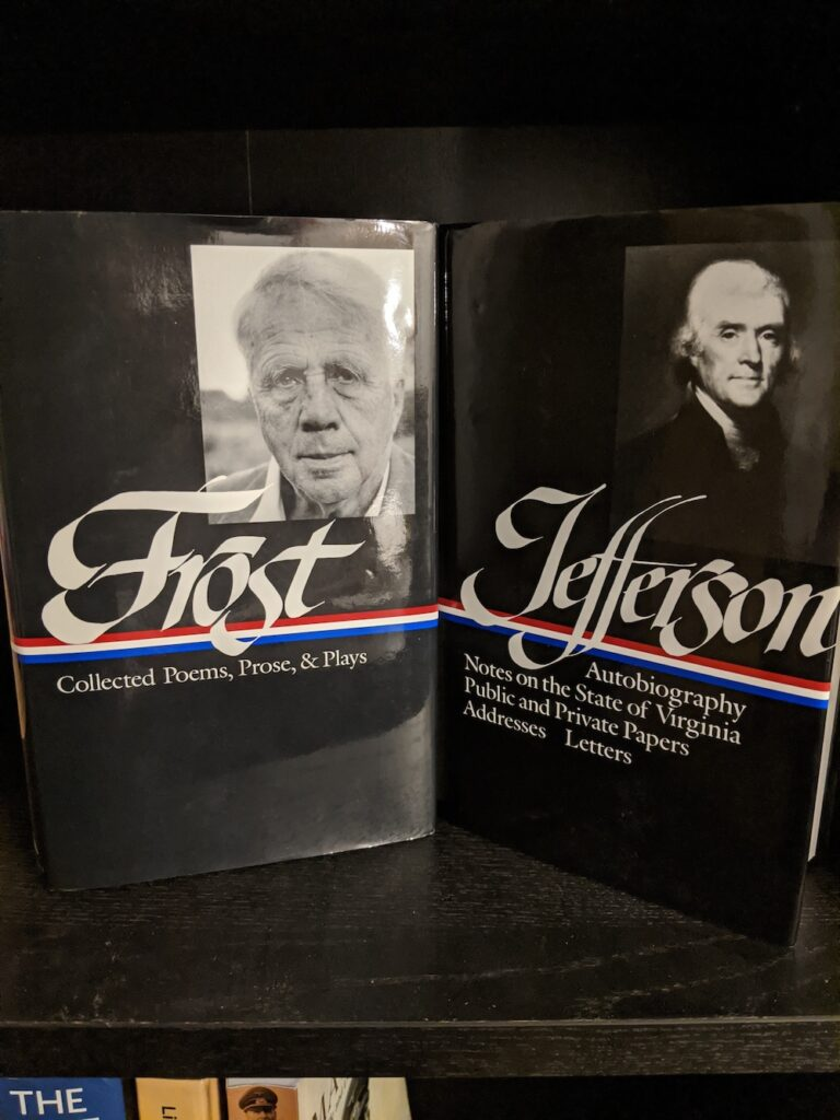 Frost and Jefferson Library of America books